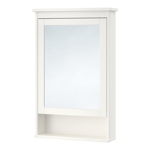 HEMNES Mirror cabinet with 1 door, white