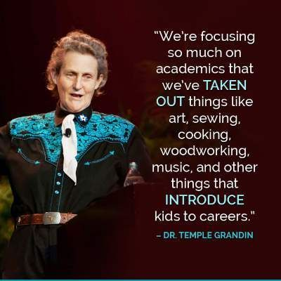 Temple Grandin Quote ~ EducationI I love this lady. she's really awesome