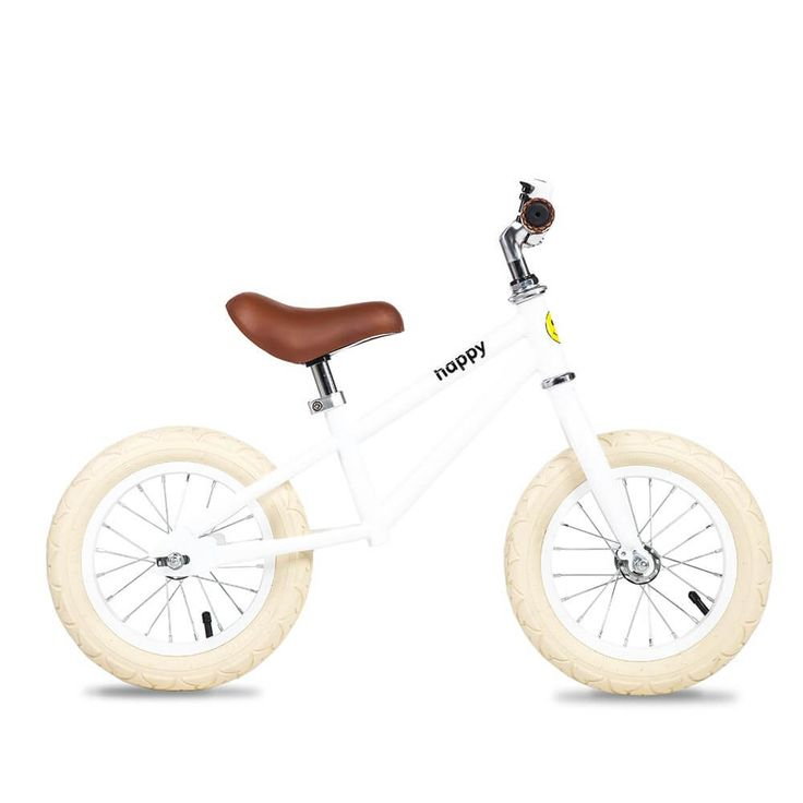 If you like a clean and minimal look, our white inspired Dakota is the bike for your toddler. The unisex balance bike features a white frame with matching painted white bell, handlebars and wheels with super comfy inflatable cream tyres. We are based in Singapore and Ship globally at great rates!     Grab yours for $140 USD.