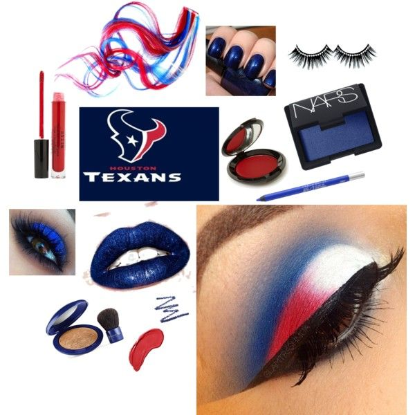 """Houston Texans Game Face"" by arizonaladybirds on Polyvore"