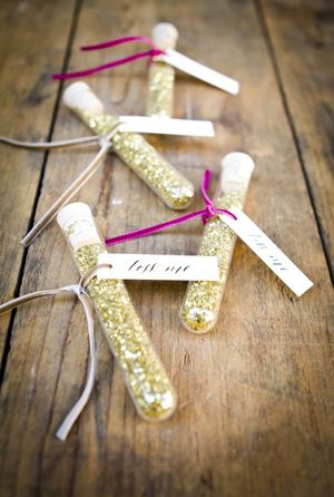 glittering gold confetti sendoff for sparkle wedding ideas