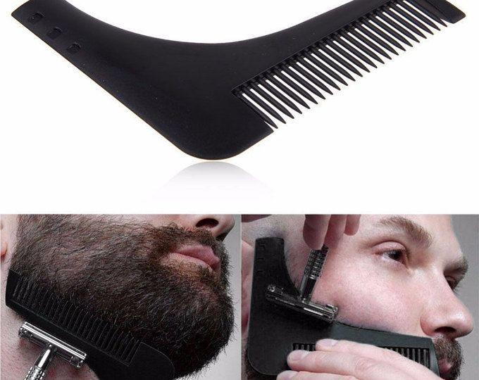 Barba profesional herramienta simetría perfecta de formar líneas de peine estilo plantilla