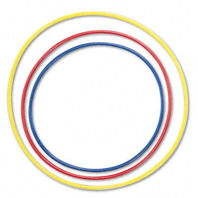 Hula Hoop Rhythms: Color-coded hoops w/different note values. Play music with a strong beat, step in a hoop, and students perform the corresponding note. Use student conductor. Also, can be varied for colors to represent different body percussion. Endless possibilities!