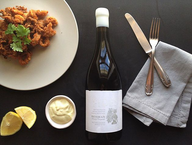 Squid and Garlic Aioli paired with Bosman Family Vineyards Fides | Monnig Social Media Management | #wineandfoodwednesday