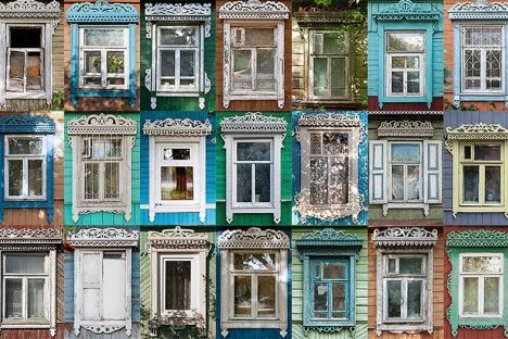 Ivan Khafizov's project nalichniki.com is a collection of thousands of photographs of traditional hand-carved wooden window frames from all different parts of Russia.