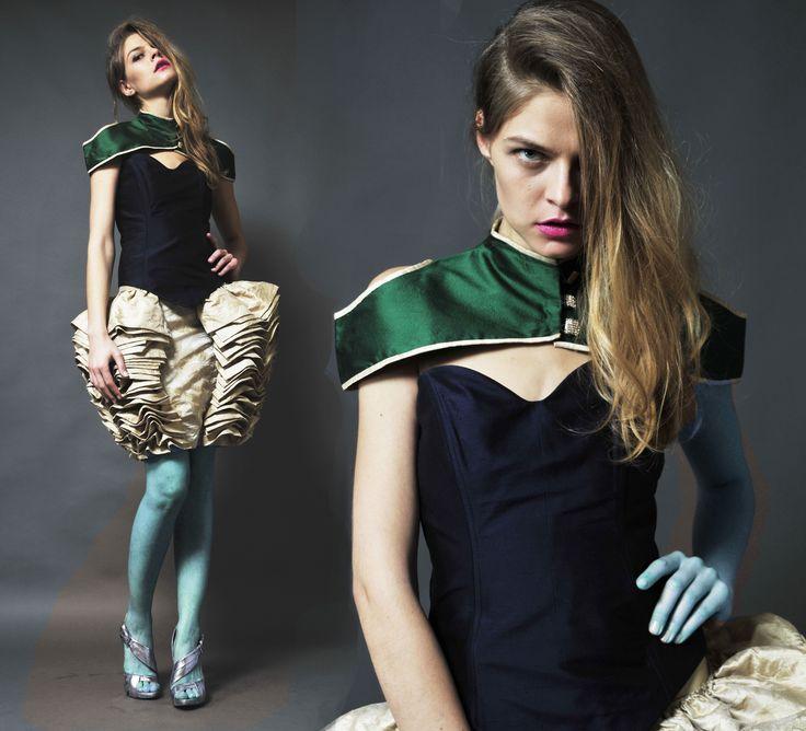 spódnica , gorset i bolerko Gabriela Hezner fot. Marcin Ziółko modelka Nicole Rosłoniec D'Vision