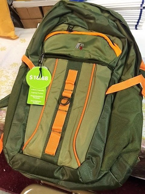 RUSSELL  BACKPACK  GREEN / ORANGE  LAPTOP POCKET NEW #RUSSELL #Backpack