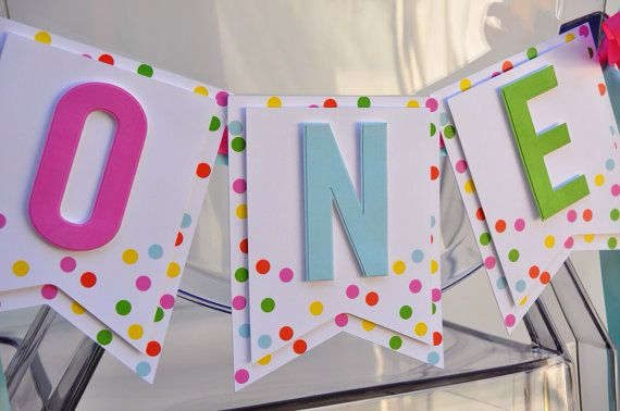 Sprinkles First Birthday Highchair Banner by HOCDesignsMarket
