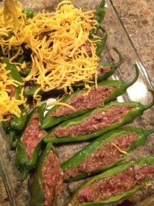 Mexican Beef Stuffed Anaheim Peppers Recipe