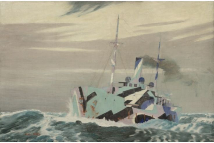 A Dazzled Merchantman, 1918, by Norman Wilkinson. Imperial War Museums