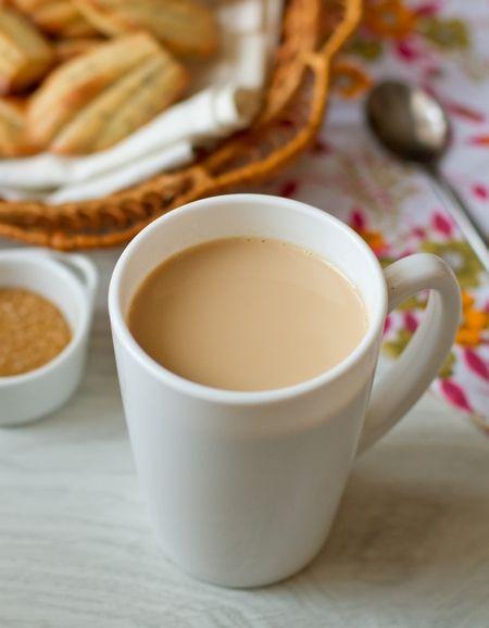 Black tea + Milk + Ginger