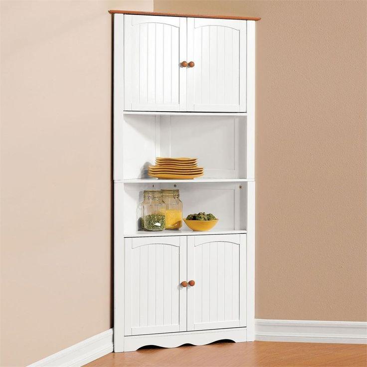 White Corner Cabinet Tall