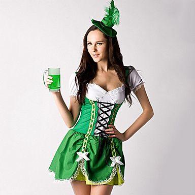 Nifty Chica verde y blanco vestido de traje Siervo Beer algodón (2 Piezas) 2015 – €28.49