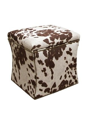 53% OFF Skyline Brass Nail Button Storage Ottoman, Milk