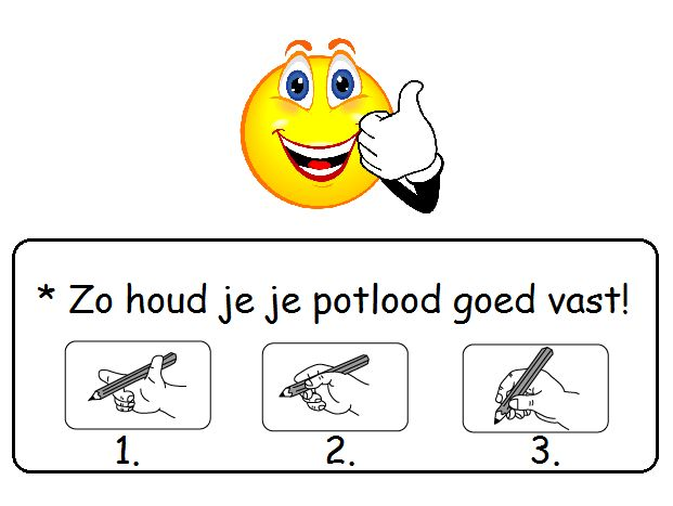 * Potloodgreep!