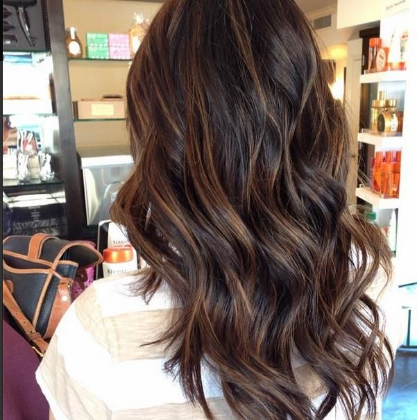 Top Balayage hairstyles for natural dark long black hair. Blonde and dark hair color ideas. Balayage hairstyle ideas for longer dark hair color.