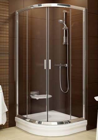 Sprchový kout Ravak Blix čtvrtkruh 90 cm, neprůhledné sklo, satin profil