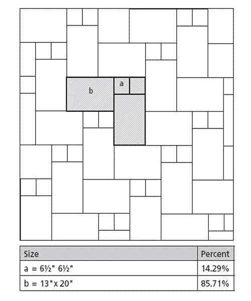 Tile layout patterns using 2 tile sizes in the plan by for Tile layout planner