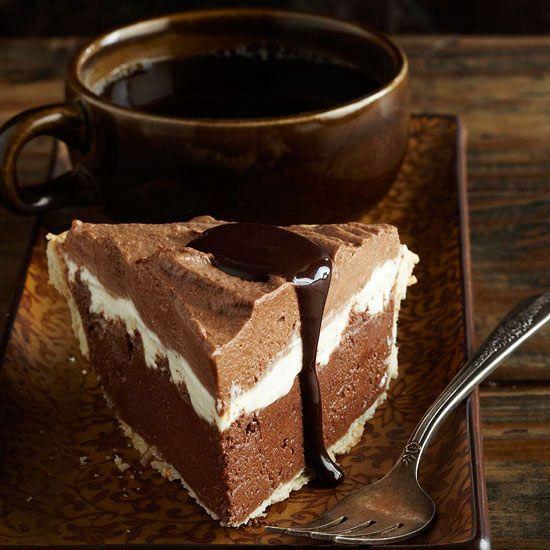 Triple Chocolate Silk Pie #chocolates #sweet #yummy #delicious #food #chocolaterecipes #choco #chocolate