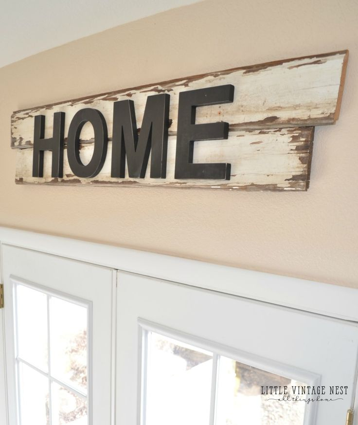DIY Rustic Home Sign                                                                                                                                                                                 More