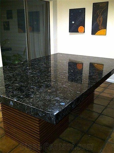 Ukraine Volga Blue Dinning Table Tops Granite Table