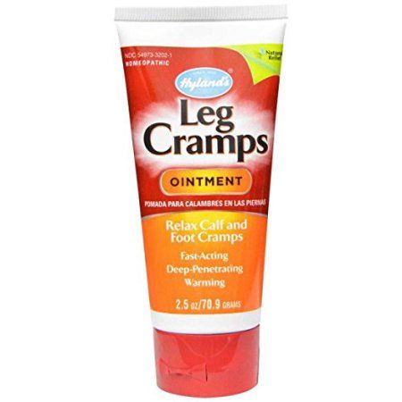 Hyland's Leg Cramps Ointment, Natural Homeopathic Relief of Calf, Leg and Foot Cramp, 2.5 Oz, Multicolor
