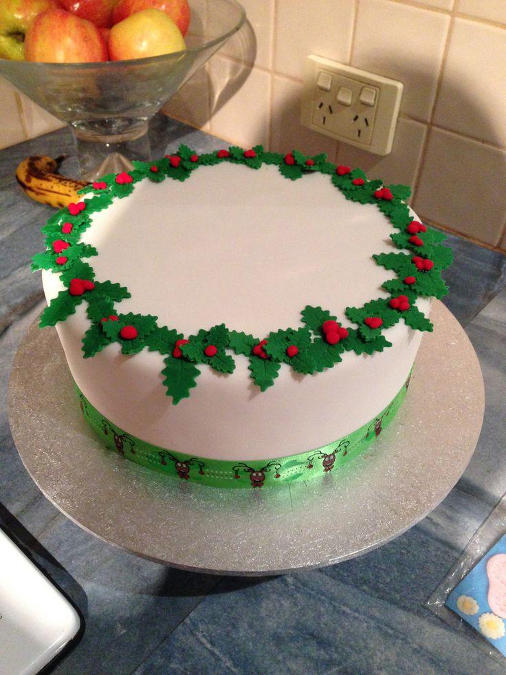 Sainsburys Cake Decorations Holly : Christmas cake. Holly. Wreath. Christmas ideas ...