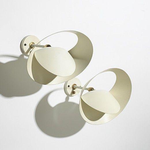 159: Serge Mouille / Saturne sconces, pair < Modern Design, 20 March 2005 < Auctions | Wright