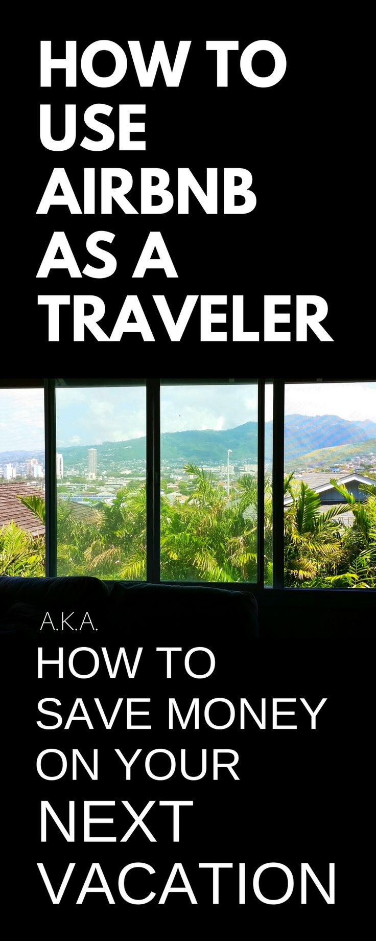 How to save money on trip or vacation. Budget travel tips, ideas on how to use airbnb instead of hotels, hostels. Best for family vacations to Hawaii or California, before cruise from Florida, solo travel, backpacking Europe or Asia, for adventures to bucket list destinations in USA or international travel. College students can save money on weekend trips during study abroad. Luxury, camp options too. Add to checklist of things to do with packing list essentials! Airbnb discount…