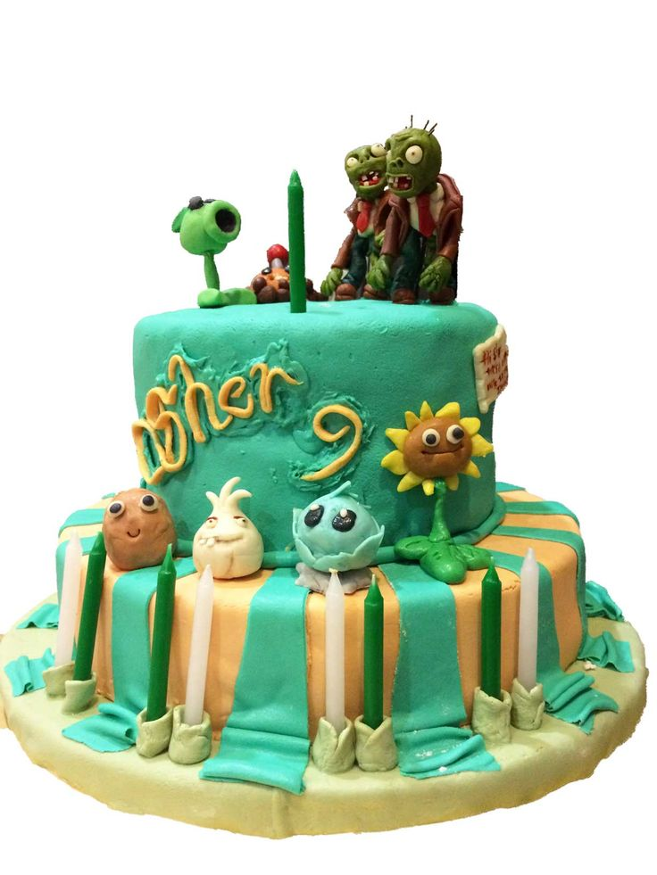 Plants vs Zombies cake (2)