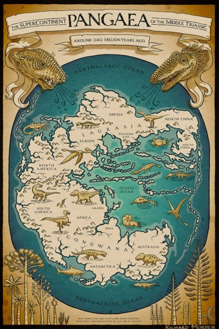 The Supercontinent Pangaea of the Triassic Period