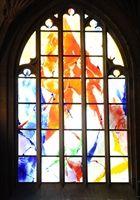 Inauguration - Inauguration à la collégiale Saint-Thiébaut de Thann, du vitrail : le Jugement Dernier