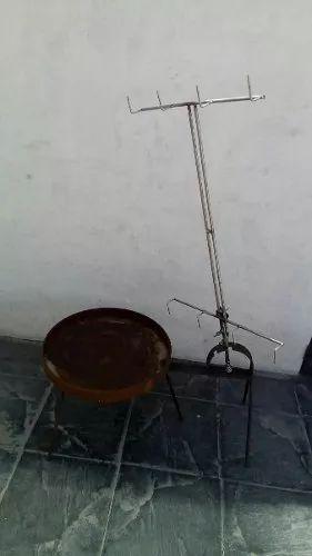 asador portátil con cruz 100% regulable