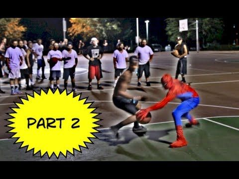 Video: Spider-Man Schooling Guys on Basketball Court | Robert Littal Presents BlackSportsOnline