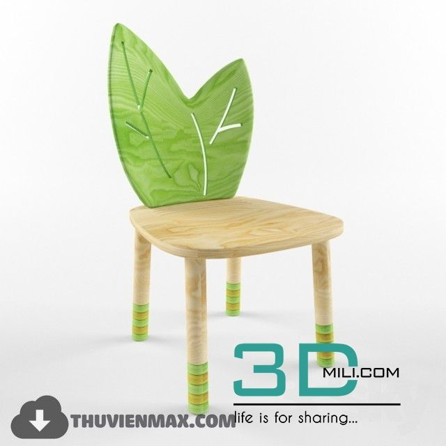 cool 42  Table + Chair CHILDROOM 3dsmax Free Download