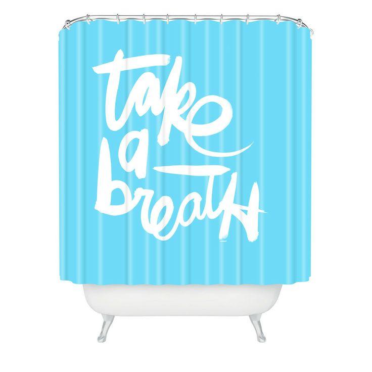 Kal Barteski Take Blue Shower Curtain | DENY Designs Home Accessories