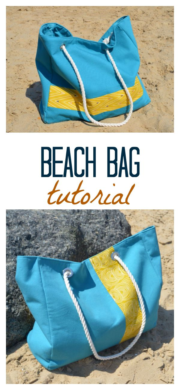 vicky myers creations » Blog Archive Free beach bag tutorial with pockets - vicky myers creations