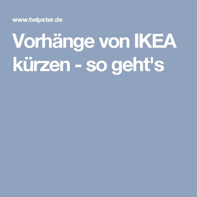 Vorhänge von IKEA kürzen - so geht's
