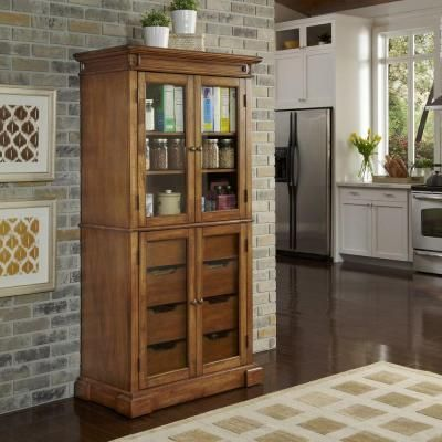 Home Styles Americana Hardwood China Pantry In Oak 5004 64