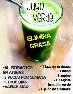 jugo verde elimina