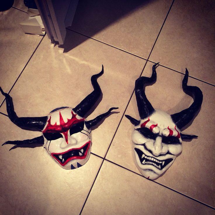 Blood Moon Akali and Shen Masks by Giulietta Zawadzki