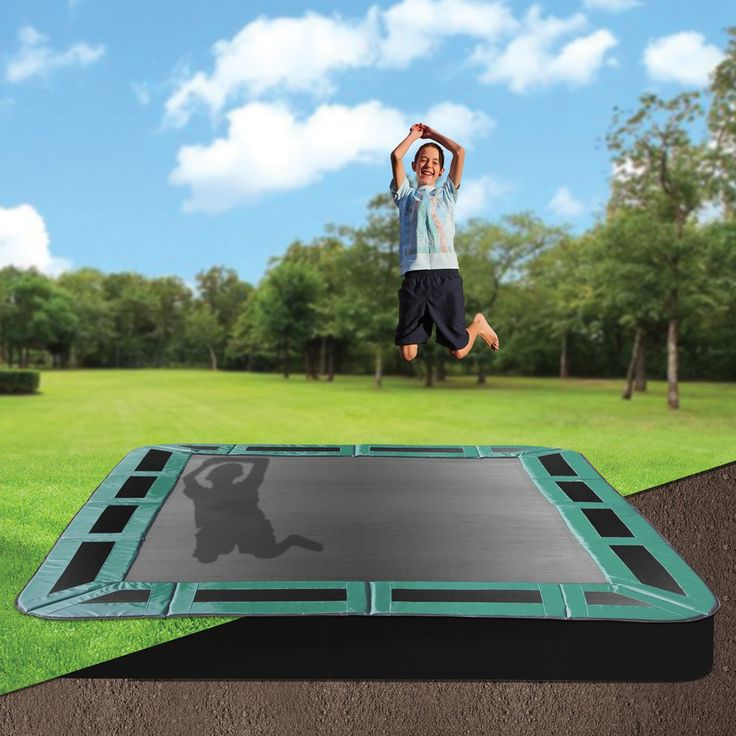 Keep your backyard looking stylish whilst letting the kids have fun, on an Oz Trampolines inground trampoline. Available in a variety of shapes and sizes, with half or full enclosures; they are the perfect, safe backyard accessory. #oztrampolines #trampolines #inground #backyard #play #outdoor #safety #safeplay #fitkids