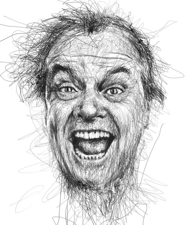 Impeccable Celebrity Portraits Made from Scribbles