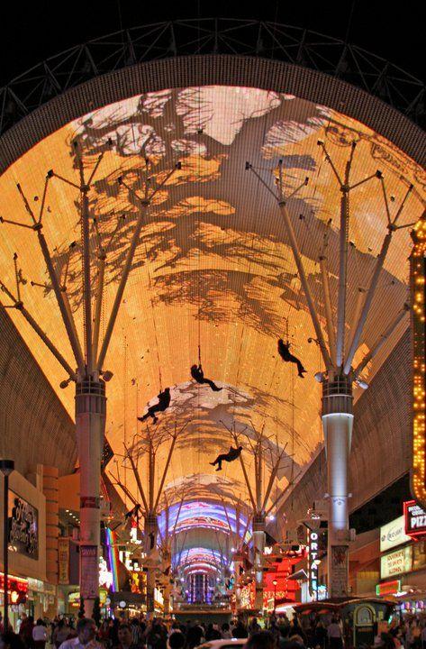 Fremont Street zip-line in Las Vegas!