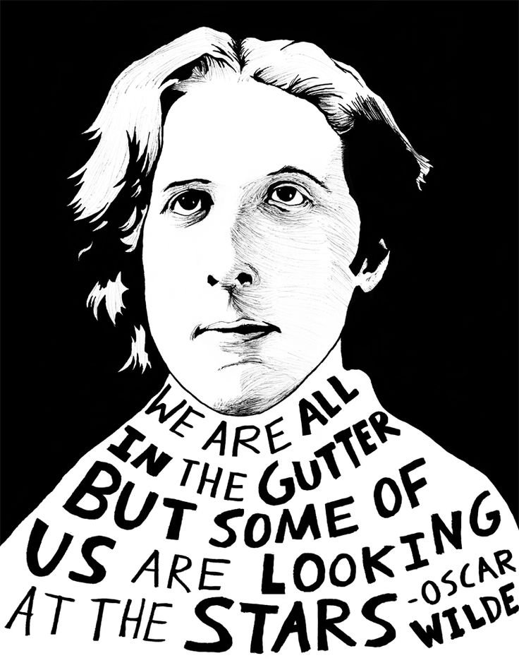 """We are all in the gutter, but some of us are looking at the stars."" - Oscar Wilde, by Ryan Sheffield - http://www.etsy.com/shop/ryansheffield"