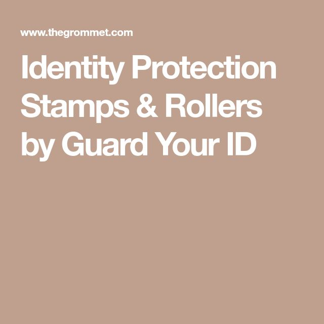 Identity Protection Stamps & Rollers by Guard Your ID