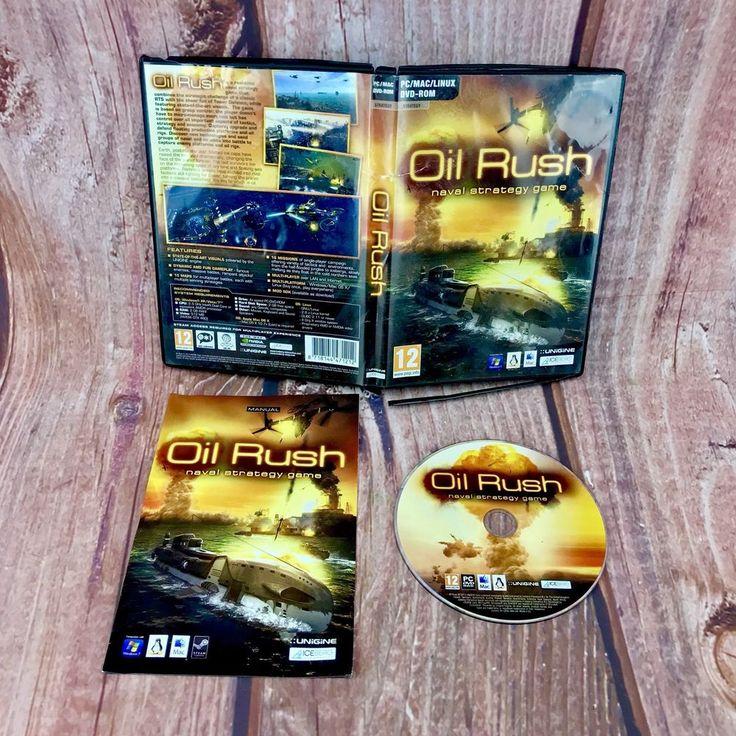 OIL RUSH NAVAL STRATEGY PC & APPLE MAC GAME DVD ROM ORIGINAL & COMPLETE