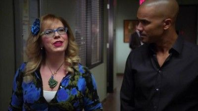 Click to view full size image. Pinning for ms. Vangsness' awesome peacock necklace. (That looks like it's handmade, which is awesome) I love Garcia's style in Criminal Minds.