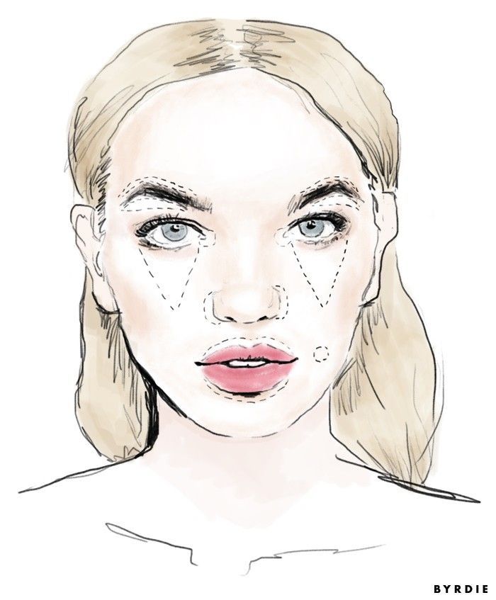 Your visual guide to where to apply concealer, aka everything you've ever wanted.