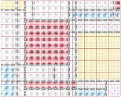 Good Free Mondrian Chart For Crafting. Latch Hook RugsMondrianRag ...
